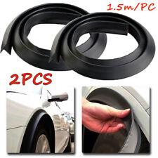 2pcs 1.5m Black Car Wheel Fender Extension Moulding Flares Trim Strip Edge SUV