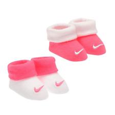 4900b7b1ae1fc NIKE ensemble lot cadeau coffret 2 paires chaussons bébé 0-6 mois rose et  blanc