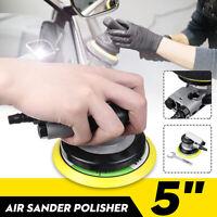 5'' Impulse Pneumatic Random Orbital Air Sander Grinding Polishing Machine+ Pad
