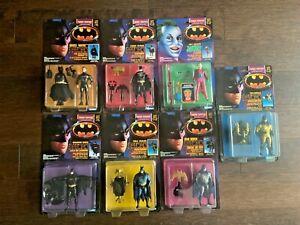 Lot of 7 Batman Figures Joker The Dark Knight Collection 1990 Kenner NIB
