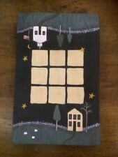 HAND MADE CRAFTED PAINTING WOODEN TIC TAC TOE BOARD GAME Beautiful Perfect gift!
