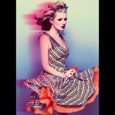 Kate Moss Topshop Stripe Floral Dress UK 10 US 6