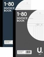 Full Size A5 Invoice Duplicate Receipt Book Numbered Cash 1 - 80 Pages Pad (UK)
