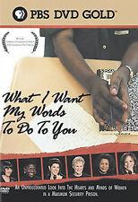 P.O.V. - WHAT I WANT MY WORDS TO DO TO YOU NEW DVD