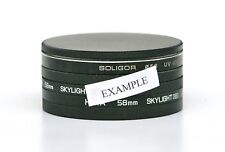 NEW 86mm METAL STACK CAP SET FOR 86mm FILTERS. IDEAL FOR FILTER STORAGE.