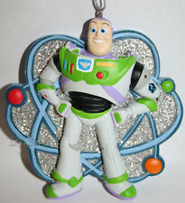 2010 NEW Toy Story Buzz Lightyear 3-D Holiday Christmas Ornament Atom Sparkle