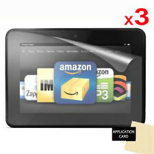 3 X CLEAR Screen Protector Guard for Amazon Kindle Fire HD 7 inch (2012/2nd Gen)