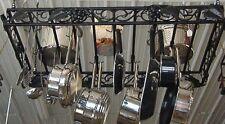 "Hanging Grapevine Scroll Pot Pan Rack 30"" X 48"""