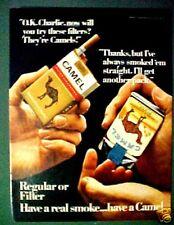 1967 Camel Filters & Camel Soft Pack Color Art Print AD