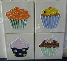 Hand made Cup Cake Tiles 10cm x 10 cm