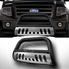 *Sale Matte Black Stainless Skid FRONT BUMPER BULL BAR GUARD 2004 & Up Ford F150