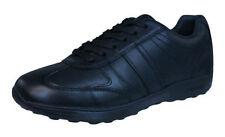 Scarpe in pelle nera con lacci per bambini dai 2 ai 16 anni