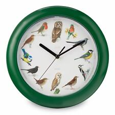 SINGING BIRDS WALL CLOCK 12 SONGS FOR EACH HOUR ANALOGUE NEW