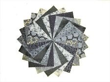"""10 10""""Quilting Layer Cake Squares Ashes to Ashes/Beautiful Grays/ Buy It Now!"""