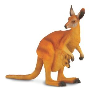 NEW Collecta L Red Kangaroo And Joey Kids Children Toy AU