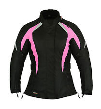 HOT Pink Ladies Waterproof Motorbike Jacket Womens Motorcycle Armour