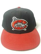 Vtg Carolina Mudcats MiLB Fitted Hat Baseball Cap 7 1/4 Made in USA Bait Shop