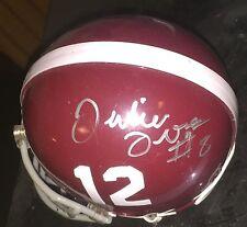 Julio Jones Alabama Crimson Tide College Signature Hand Signed Mini Helmet COA