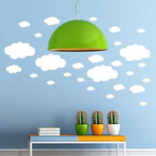 Set 27 White Clouds Wall Sticker Pattern | Baby Cradle Decal Girl Bedroom Decor