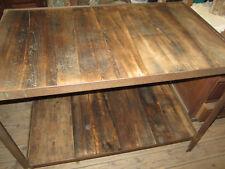 Ancien établi, table bois et métal garage / industriel