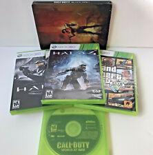 Xbox 360 Game Lot: Call of Duty Black Ops 2 (tin) + World at War, Halo 4, GTA 5