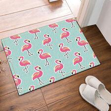 Kitchen Bath Bathroom Shower Floor Home Door Mat Rug Non-Slip Pink flamingo