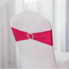 Stretch Elastic Slider Chair Cover Band with Buckle for Wedding Party Supply DM