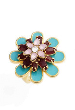 Kate Spade Bold Blooms Ring Colorful Blossoms!  Size 5