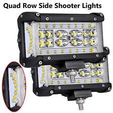 2x 5INCH LED Light Bar Side Shooter ATV Work Pod Fog Light Offroad Truck 12V 24V