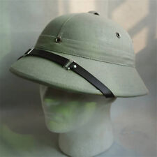 Safari Pith Gray Helmet Jungle Hunting Explorer Hat Cap Fancy Dress Film Props