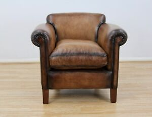 John Lewis Camford Leather Armchair, Buffalo Antique