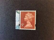 Gb 2011 5p Lake Brown Machin Mint 2 Band from Dx53 Prestige booklet