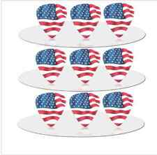 United States of America USA Flag Guitar Picks Lot of 10 .71 mm US Seller New