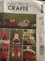 McCall's M5546 Craft Christmas Holiday Table Decorations Sewing Pattern Uncut FF