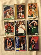 9 different Larry Bird cards