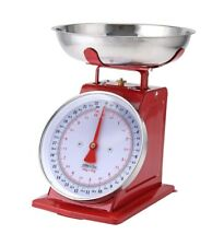 Vintage Analog Kitchen Scale Stainless Steel Food Meat Fruit Vegetable 22lb Tray