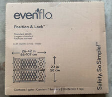 New Evenflo Position Lock Safety Gate Pet Barrier Dog Cat Baby Safety Fence NIB