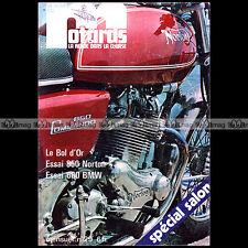 LA REVUE DES MOTARDS N°29-d BMW R60 /5 NORTON 850 INTERSTATE SALON BOL D'OR 1973