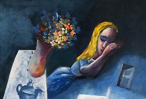 Charles BLACKMAN Dreaming Alice 1956 print art abstract wall