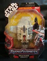 TRANSFORMERS STAR WARS CROSSOVER EMPEROR PALPATINE SITH IMPERIAL SHUTTLE MOSC