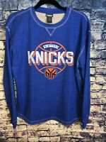NBA NEW YORK KNICKS L/s Shirt Size L BLUE MENS Thermal