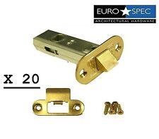 "Eurospec 2.5 pulgadas 2.5"" (64mm) Tubular encajada Pestillo acabado de latón paquete de 20 Nuevos"