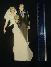 Vintage 60s Beistle honeycomb wedding centerpiece marriage bride groom Cool