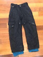 Body Glove Snowboard Ski Snow Pants Kids Child Sz 10 black EUC