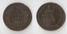 México 1 CENTAVO 1863 SLP San Luis Potosí Rare!!!