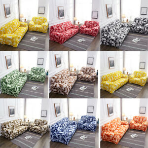 1/2/3/4 Seater Floral Stretch Sofa Covers Living Room Slipcovers Couch Covers