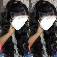 Glueless Loose Wave Full Lace Front Wigs Malaysian Virgin Human Hair Wig Women X