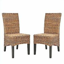 Safavieh St Croix Wicker Natural Tan Side Chairs Set Of 2