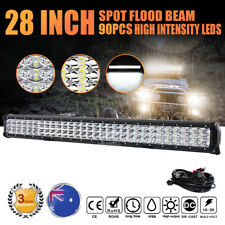 """28 inch 1260W Philips Led Light Bar Spot Flood Driving Offroad Truck 4x4WD 30"""""""