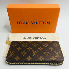 LOUIS VUITTON Monogram Canvas Zippy Brown Wallet / Clutch / Organizer * France *